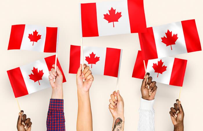 Estudiar y trabajar en Canadá-banderas